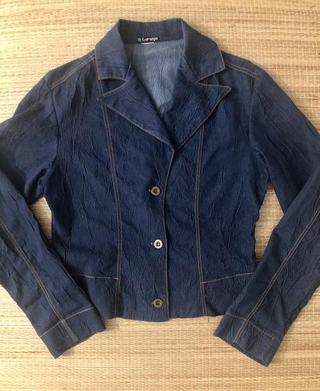 Casaquinho/ Blazer Feminino Jeans Leve