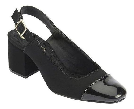 Zapato Color Negro Tipo Ante Con Punta Brillante Terra 022-379 22 Al 26 Oto/inv19