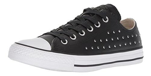 Converse Ctas Ox Zapatillas Para Mujer, Color Negro Y Platea