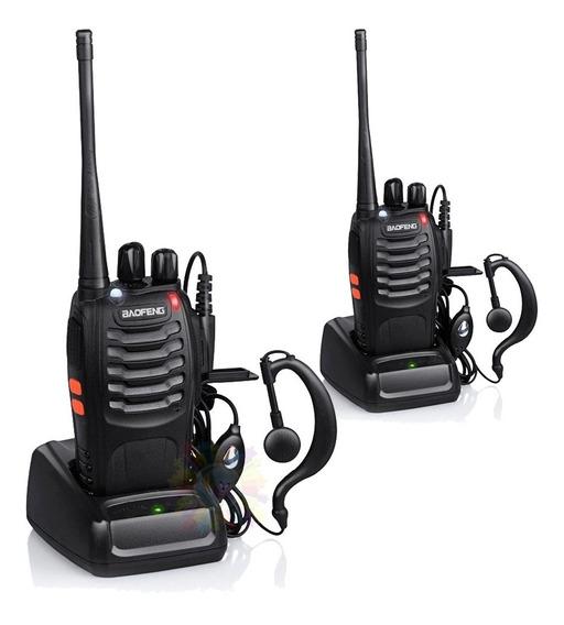Kit X 2 Handy Baofeng Bf888s Canalero Radio Walkie Talkie 16ch Uhf Handie Accesorios Bateria Manos Libres Tipo Motorola