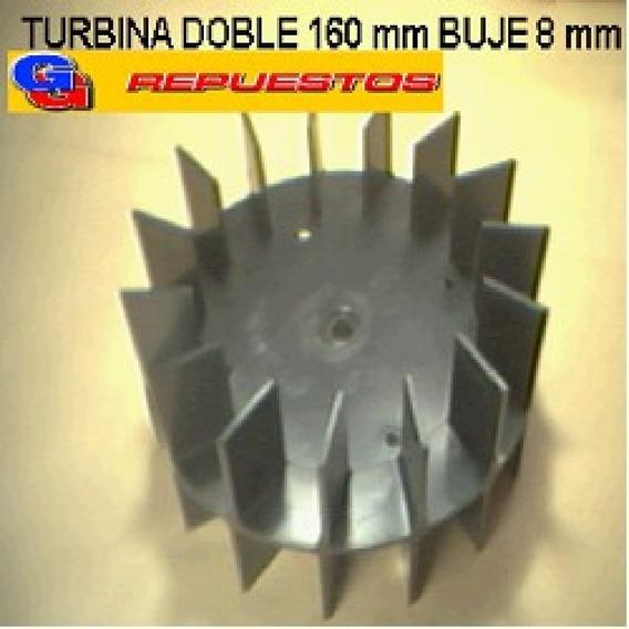 Turbina Purificador 160 Mm Doble Buje De 8 Mm Alto 8 Cm