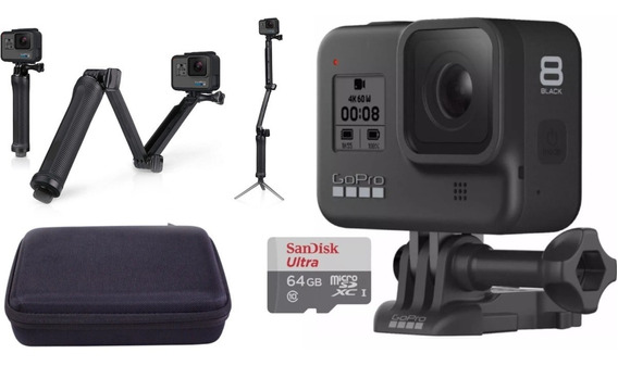 Câmera Gopro Hero 8 Black + Case + Sd 64gb + Tripé