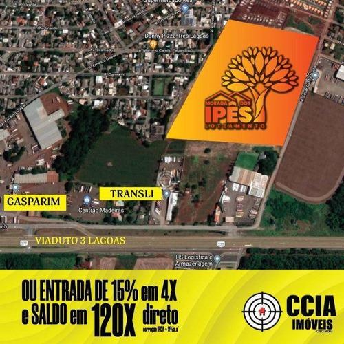 Imagem 1 de 2 de Terreno À Venda, 200 M² Por R$ 108.000,00 - Loteamento Morada Dos Ipês - Foz Do Iguaçu/pr - Te1696
