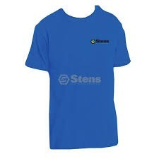 Sten051-191 Shirt Xl / Dt104 Deep Royal Blue With Color Logo