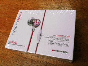 Monster Beats Ibeats By Dr. Dre Branco - Original