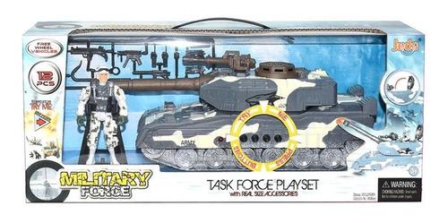 Tanque De Guerra Soldado Armas Sonido Luz