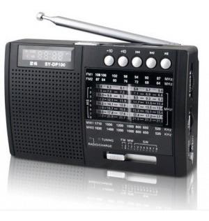 Rádio Shouyu Sy-x5 Am Fm Sw Com Mp3 E Dsp Alta Performance