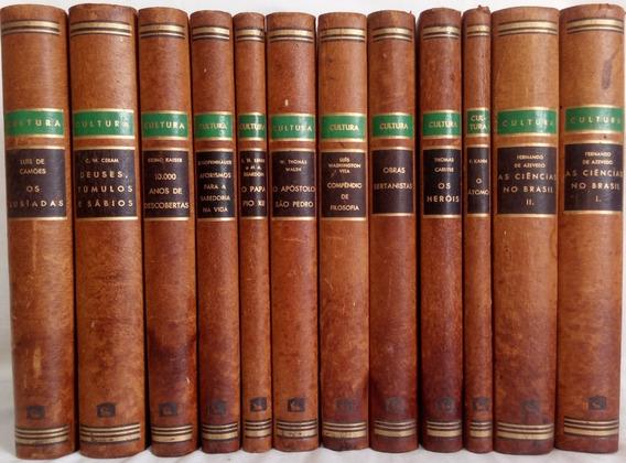 Coleção Cultura Livros Antigos Raros Melhoramentos 12 Livros