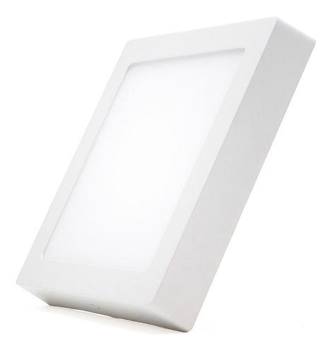 Imagen 1 de 9 de Panel Plafon Led 6w Cuadrado Exterior Calido Frio Neutro #