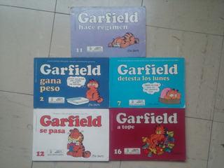Comic Garfield ,jim Davis, Edit Grijalbo , 5 Numeros