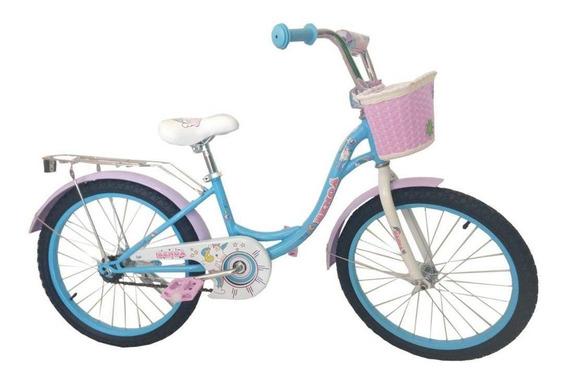 Bicicleta Infantil Benoá Aro 20 Unicórnio Com Cestinho
