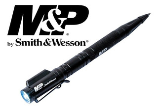 Boligrafo Tactico Smith & Wesson Con Linterna 130 L Y Laser