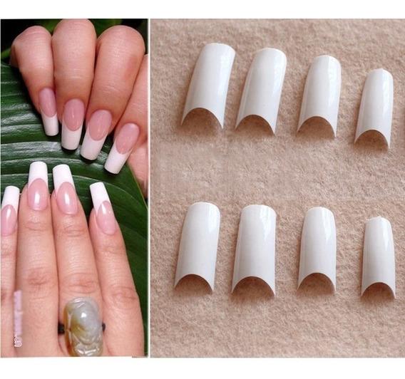 500 Tips Blancos Natural Transparentes Esculpida Gelificada