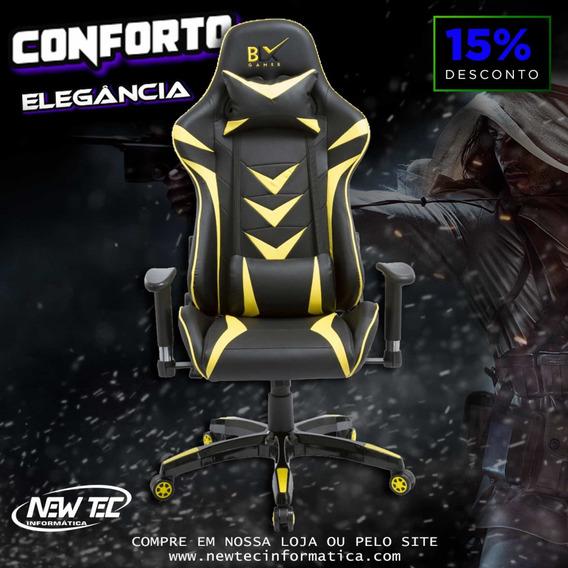 Cadeira Gamer Em Courino Suporta 130kg