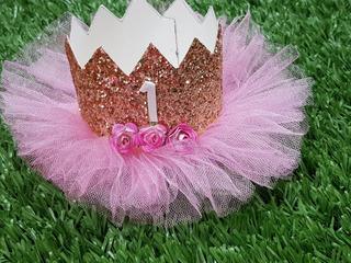 Corona Para Bebe Glitter Brillos Con Numero