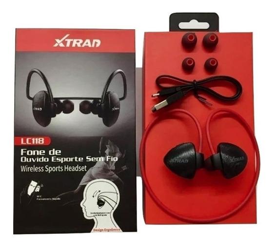 Fone De Ouvido Esportes Bluetooth Sem Fio Xtrad Academia