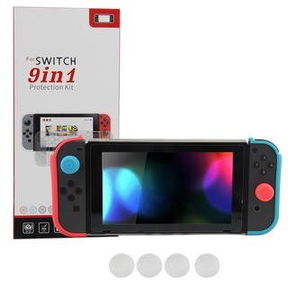 Kit Funda Estucheprotector Nintendo Switch Accesorios 9 En 1