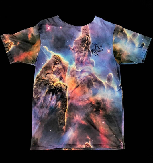 Playera Dna Amsterdam Ls Angeles Galactic Space Design Print