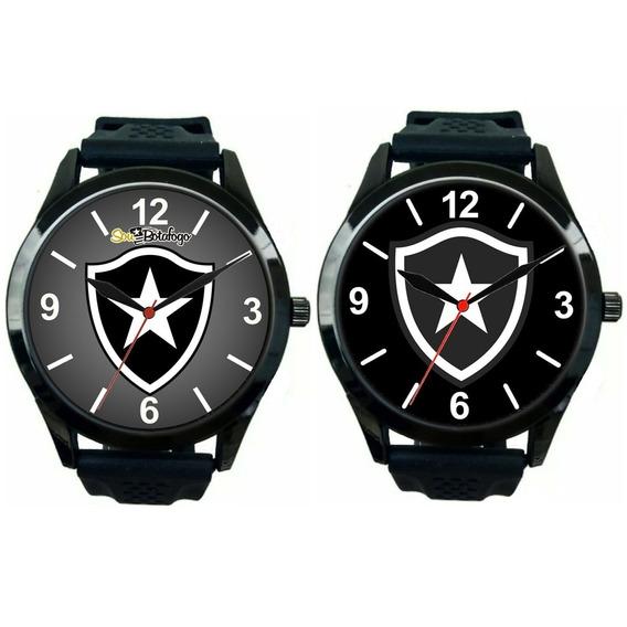 Kit 2 Relógios Pulso Esportivo Botafogo Masculino Promoção