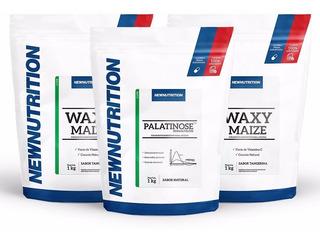 Kit 1 Palatinose 1 Kg + 2 Waxy Maize 1 Kg Newnutrition