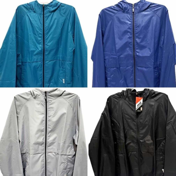 Campera Rompeviento Hombre Avia Capucha Running Correr Gym
