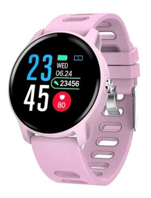 Relógio Smartwatch Inteligente Feminino Rosa/branco Fitness