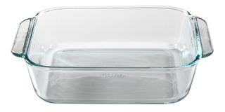 Asadera Pyrex Basics Fuente Molde Cuadrado Vidrio Templado Para Horno Freezer Lavavajillas C/asas 20 Cm 1,9 Lt - Cuotas