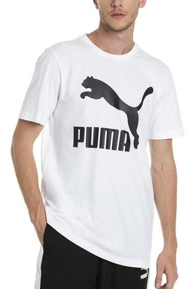 Puma Remera Classics Logo Blanca Moda - Corner Deportes