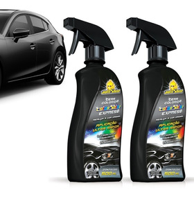 Kit 2 Cera Automotiva Liquida Colorida Preto 500ml Autoshine