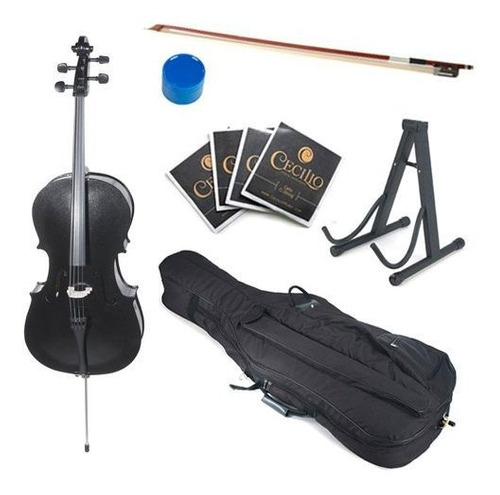 Cecilio Cco-100 Estudiante Cello 4/4 (full Size) Negro