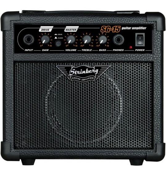 Cubo Amplificador Para Guitarra Strinberg Sg15 Black - C/ Nf
