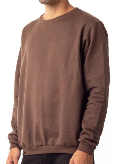 Moleton Moletom Careca Liso Básico Camisa Pronta Meio Swag