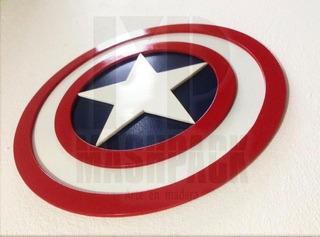 Capitán América, Logo En Madera Mdf