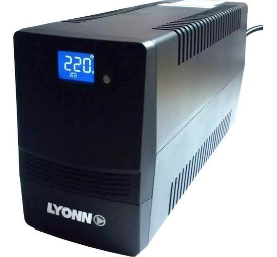 Ups + Estabilizador Lyonn 800va Soft Usb 800w Display Garant
