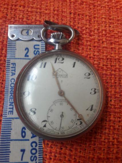 Relógio Bolso Antigo Mondaine Acre 17 Rubis Leia Descrição