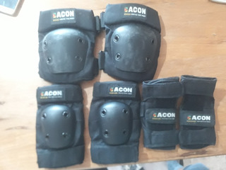 Kit Protección Skate/rollers/scooter/longboard Acon Poco Uso