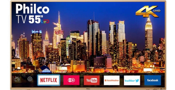 Philco Smart Tv 4k Ptv55f61snc (tela Quebrada)