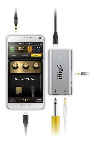 Guitarra Bajo Interfaz Para Android Irig Ua
