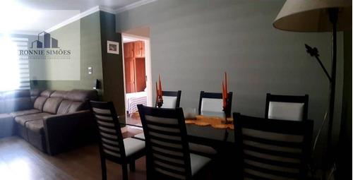 Imagem 1 de 16 de Apartamento À Venda Em Moema, Edifício Rouxinol, Mobiliado, 2 Dormitórios, Sala Para 2 Ambientes, 2 Banheiros, 1 Vaga, 85 M², São Paulo. - Ap1148