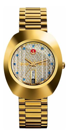 Reloj Rado Lluvia De Estrellas R12413313 Dorado De Caballero