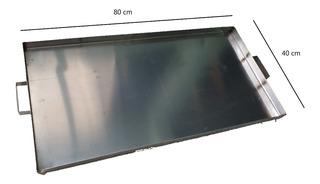 Comal/plancha Liso De Acero Inox De 40x80 Cm Para Negocio