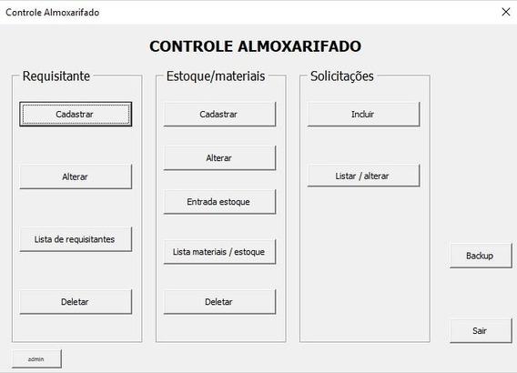 Planilha Estoque Almoxarifado Excel Vba - A Mais Completa