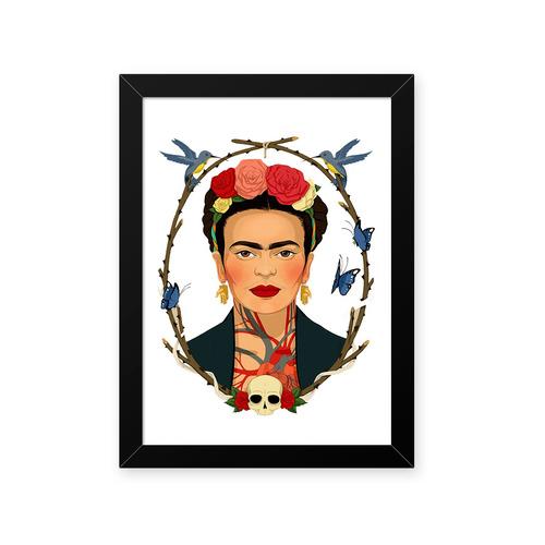 Quadro Frida Caveira 23x33cm