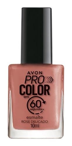 Imagem 1 de 1 de Avon - Pro Color 60 Segundos - Esmalte - Rose Delicado