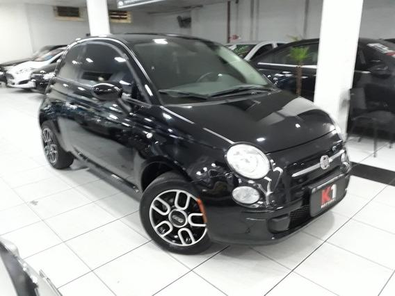Fiat 500 2015 Preto Extremamente Novo