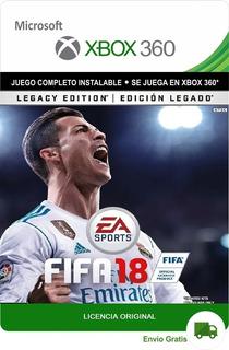 Fifa 18 Legacy Edition Xbox 360 Licencia Digital