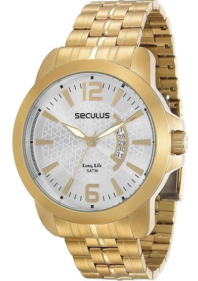 Relógio Masculino Seculus Analógico Social 28658gpsvda1