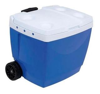 Caixa Térmica Mor 42 Litros, Com Roda - Azul