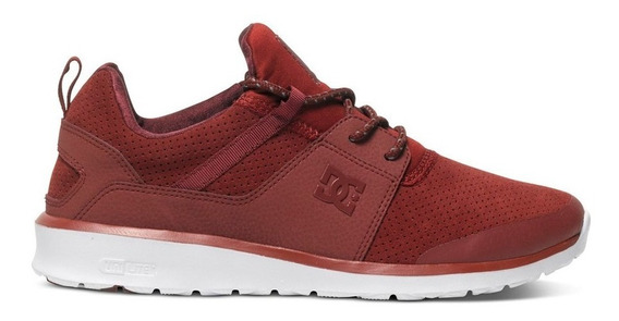 Tenis Hombre Heathrow Adys700084 635 Dc Shoes Rojo Gamuza