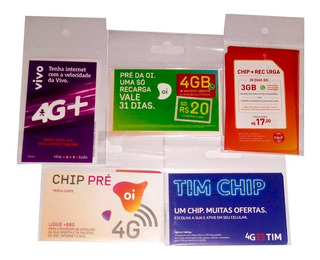 Chip Tim Claro Vivo Oi 4g Atacado Frete Carta Registrada